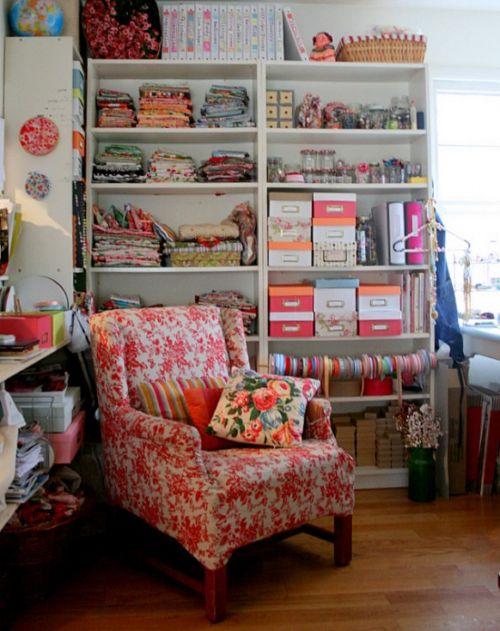 furniture on craft room