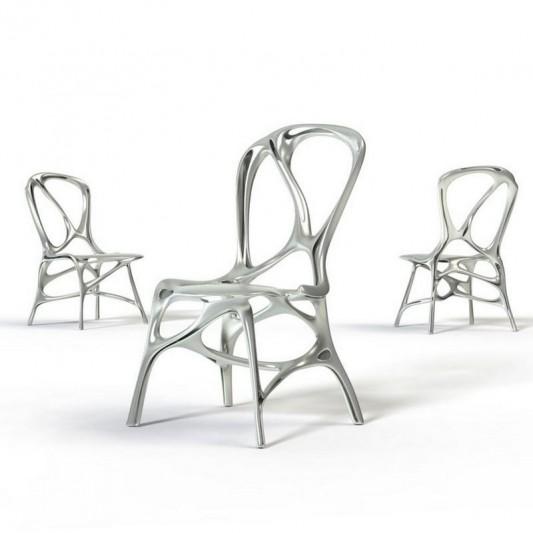 futuristic aluminum chair unique design