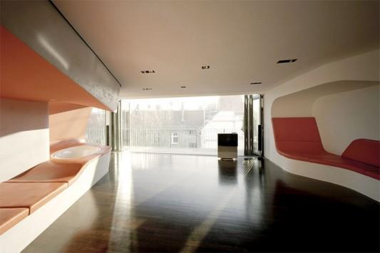 futuristic bedroom and bathroom for suites loft interior design