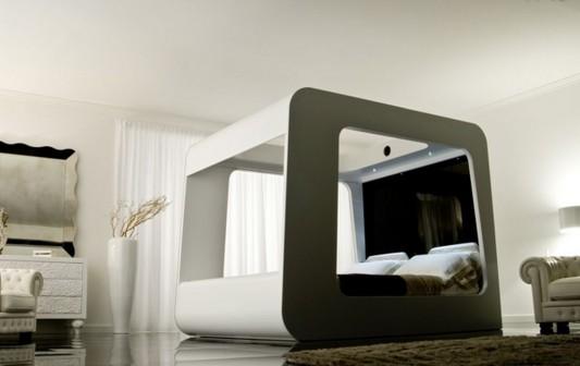 futuristic canopy bed design