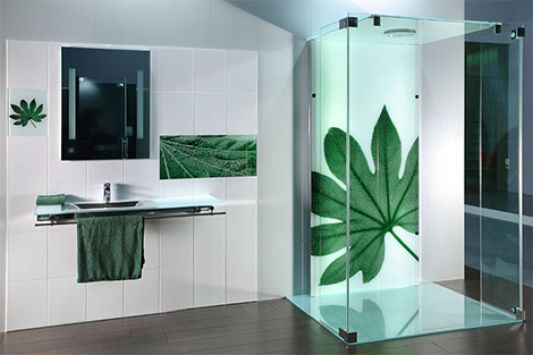futuristic glass tiles design nature motive