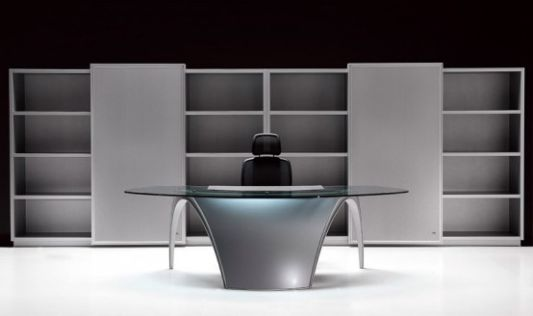 futuristic home office desk