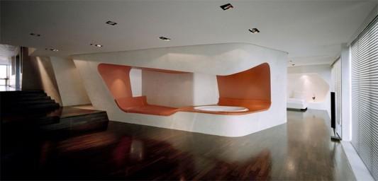 futuristic loft interior design concept
