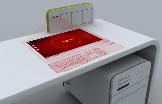 Futuristic concept office desk office furniture design by for Futuristic office desk
