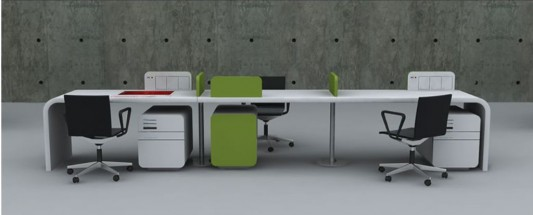 futuristic office furniture set