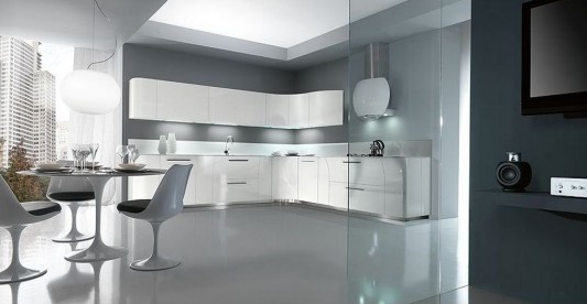 glamorous red kitchen decorating ideas | Modern and Glamorous Lacquer Kitchen Design Ideas, Vegas ...