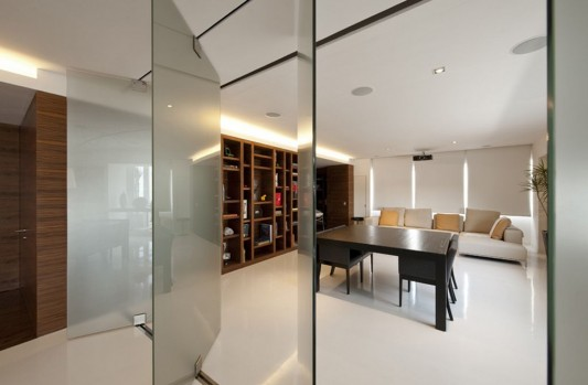 glass folding door open apartment interior decoration