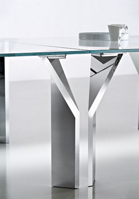 modern fixed glass top table stylish design a4 by meneghello paolelli home design inspiration. Black Bedroom Furniture Sets. Home Design Ideas