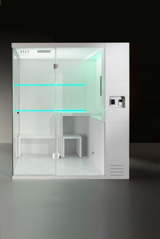green Led option simple compact shower box