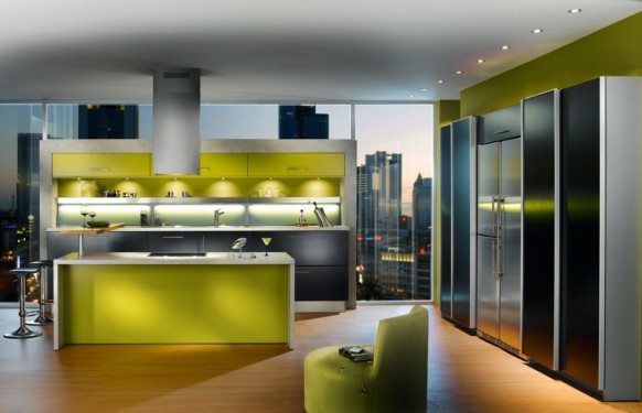 green apartment kitchen design ideas