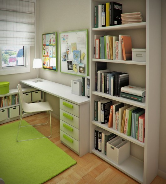 green color style modern child room design