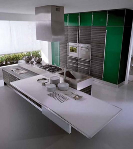 24 Ideas Of Modern Kitchen Design In Minimalist Style: Modern Kitchen Decor With Minimalist Color Touch, Miro By