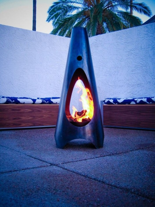 handcrafted modfire portable outdoor fireplaces