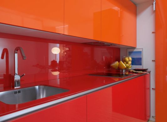 helena orange hidden kitchen ideas