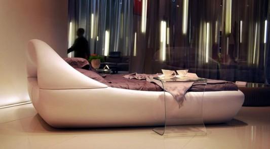 high level comfortable Sculptural bed design