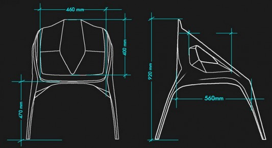 hodie futuristic chair design plans by Darko Markovic
