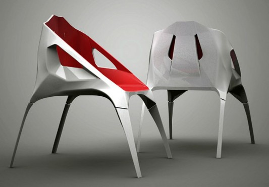hodie minimalist and futuristic colored chair design