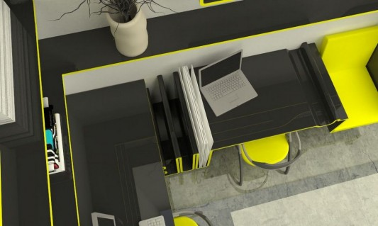 Office Furniture: Minimalist Modern Home Office Furniture Concept For Small