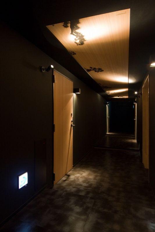hotel nuts interior design Common corridor ceiling