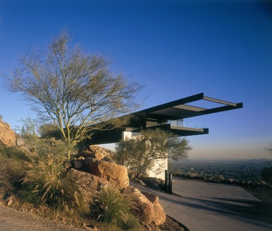 house in high mountain concept