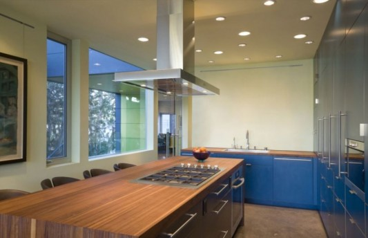 hover house kitchen design with creative lighting