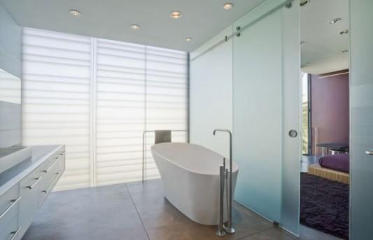 hover house minimalist house with luxurious bathroom decor