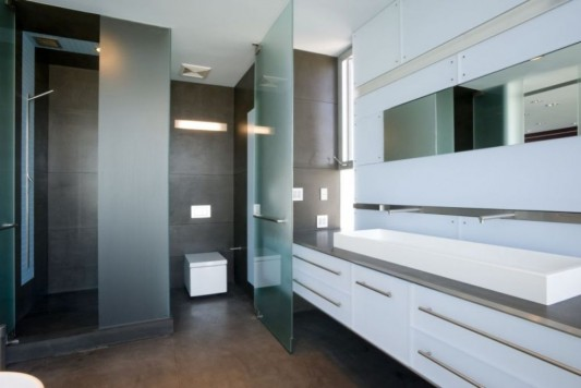 hover house minimalist house with modern bathroom inspiration