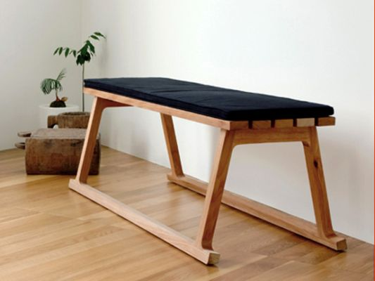 Minimalist Bench Design And Proportional For Outdoor And