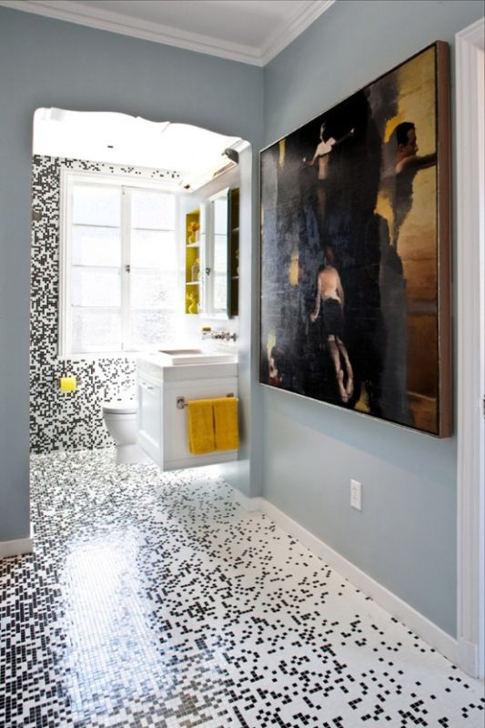 Idea Of Integrated Bathroom Tiles Design For Contemporary Style