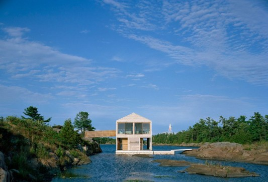 innovative floating lake house design