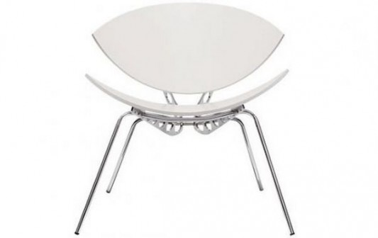 insect chair white leather option with chrome frame elegant design