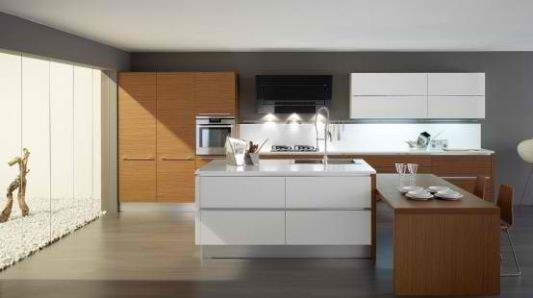Wooden Elements For High-Tech Kitchen Decor, Oyster by Veneta Cucine ...