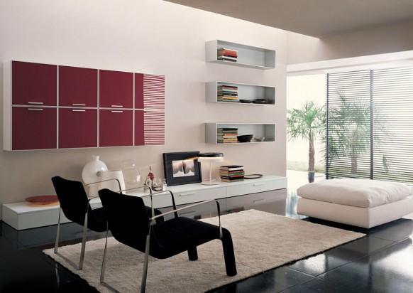 italian window on living room design