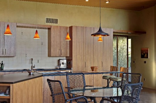 kitchen and dining room small house concept