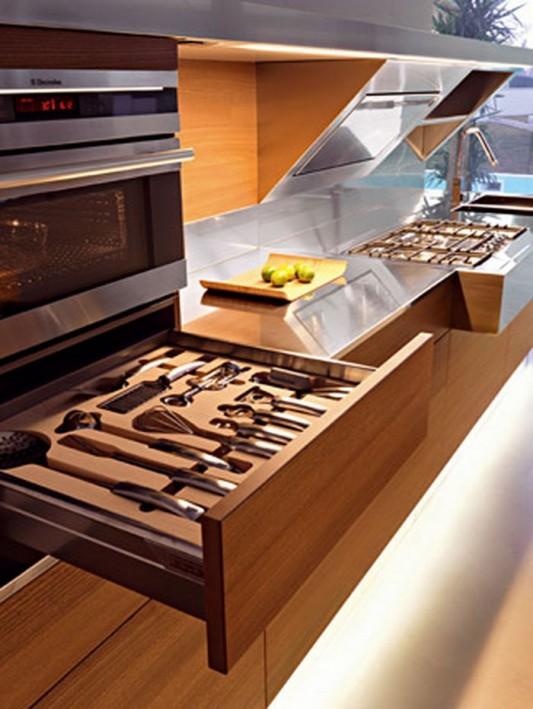 kube modern elegant kitchen with practical appliances storage