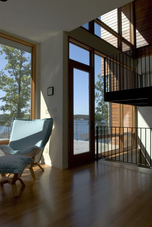 lake house lounge room design by Archimania