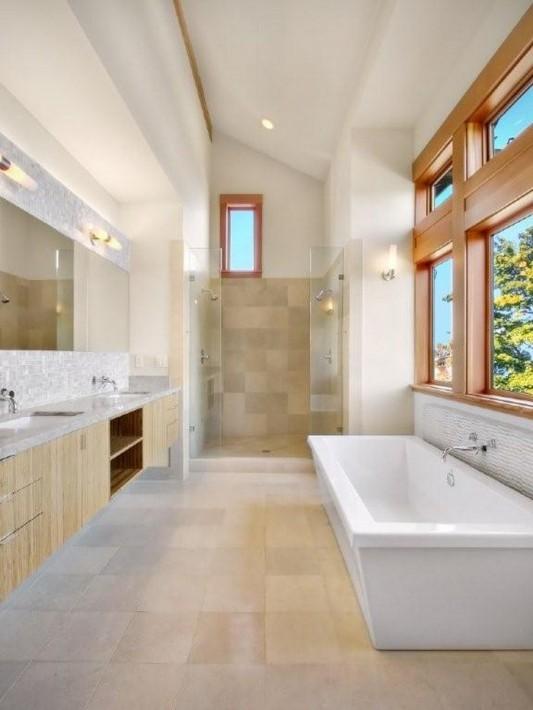 lake washington residence master bathroom design