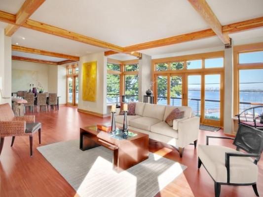 lake washington residence open interior design inspiration