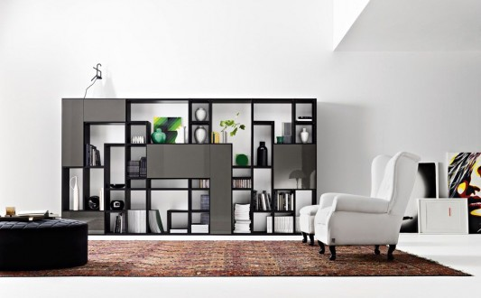 Various options furniture living room with modern design modulo from doc mobili home design for Living room partition furniture