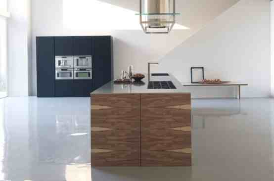 large center island kitchen wooden functional
