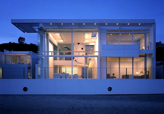 lighting looks white beach house in the afternoon