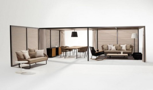 living room decoration ideas with kettal bitta furniture collection