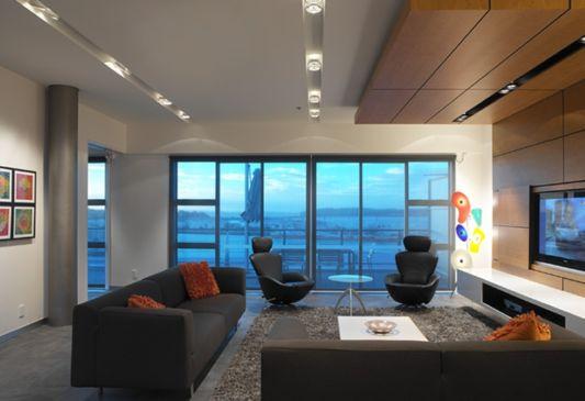 living room design feigin apartment
