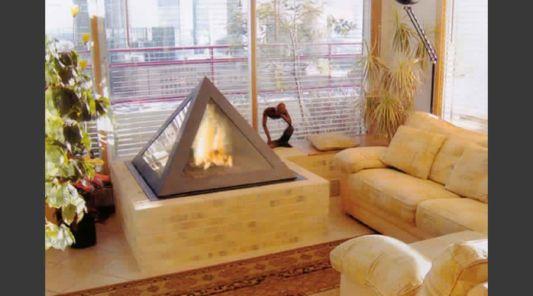 livingroom fireplace desig phyramid style