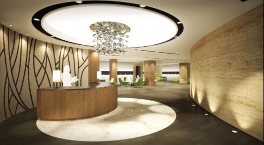 lobby club house interior design