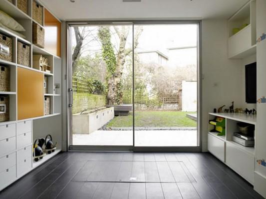looks beyond wine cellar without disturbing interior kitchen