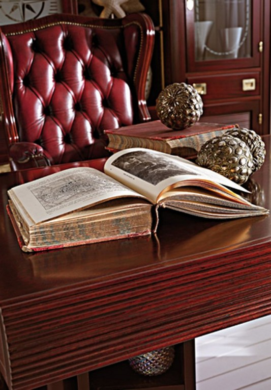 luxurious traditional chair and desk for study room