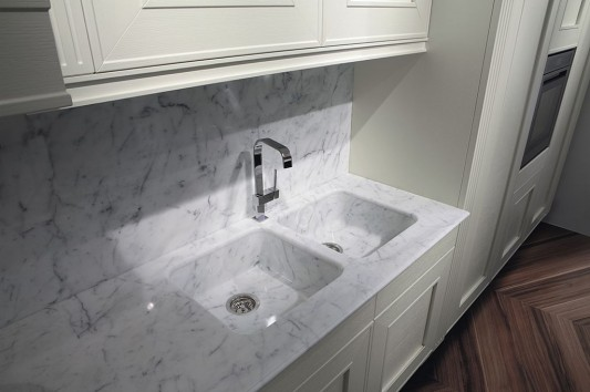 luxurious marble kitchen basin classic contemporary design