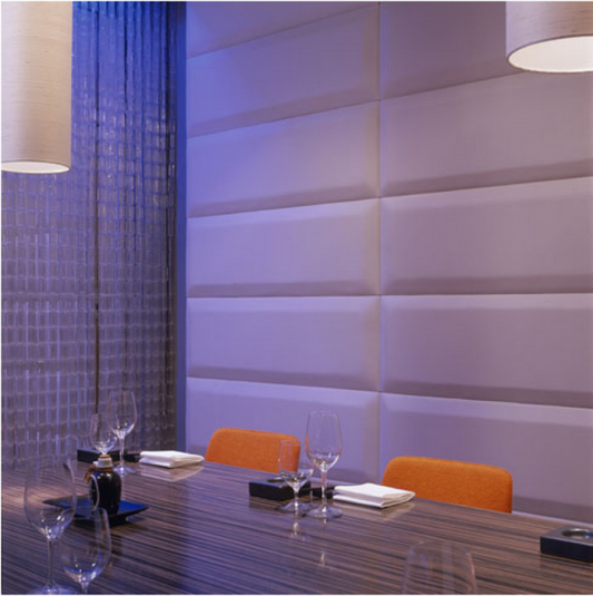 luxurious restaurant interior with dramatic led lighting