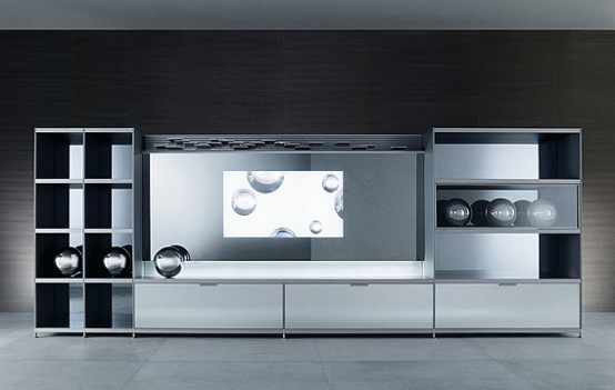 luxury home tv central unit design